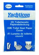 Yachticon Toilettensitz Papierabdeckung 10 Stück hygienisch Einmalpapier Camping