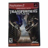Transformers: The Game (Sony PlayStation 2, 2007) w/Manual & Bonus Disc CIB