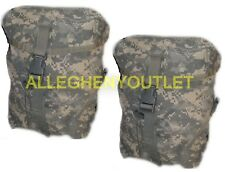 2 TWO SUSTAINMENT POUCHES MOLLE II ACU US ARMY Military Rucksack Back Pack VGC