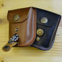 Slingshot Catapult Ammo Pouch Steel Balls Leather Bag With Magnet On Belt Waist