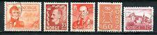 Norway 1942, '51, & '58, Scott # 282, 312, & 363, Used, Never hinged.