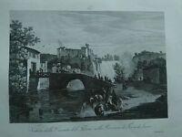 1845 Zuccagni-Orlandini Veduta della Cascata del Fibreno Terra di Lavoro