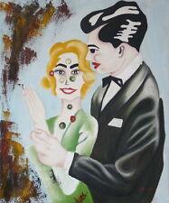 Gemälde - Paar abstrakt Liebe handgemalt Leinwand Acryl Malerei modern Frau Mann