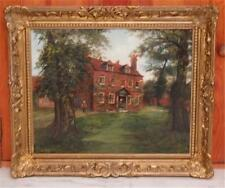 LATE 1800S SCHILLAY & REHS BRITISH COUNTRY OIL PAINTING