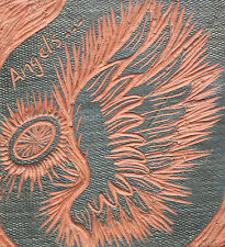 'Angels...' - Vintage Studio Pottery Terracotta Tile - Signed & Dated - C. 2000