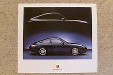 2004 Porsche 911 Carrera Coupe Showroom Advertising Poster RARE!! Awesome L@@K