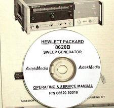 Hewlett Packard Hp 8620B Sweep Generator Operating & Service Manual