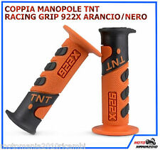 COPPIA MANOPOLE TNT RACING GRIP 922X ARANCIO/NERO