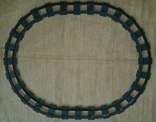 Lot of LEGO DUPLO Train Tracks 14 pcs 2 straight 12 curved Dark Grey Gray