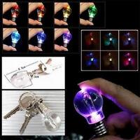 Cute Mini LED Colorful Flashlight Light Bulb Lamp Key Ring Keychain Lamp Torch