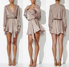 WINONA AURA DRESS - Women's Silk-like fabric Low v-neck Any-occasion Wrap