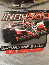 """Adult T-shirt, Grey, Size Medium """"Indy 500 May 2004"""" Indianapolis Speedway! New!"""