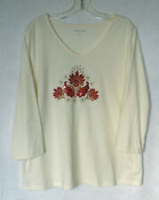 Breckenridge 3/4 Sleeve Embellished  Sequined Top Size XL