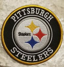 "Pittsburgh Steelers 4"" Iron On Embroidered Patch ~USA Seller~FREE Ship"