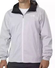 NWT The North Face Mens QUEST insulated Rain Jacket w Hood, White Heather, XL