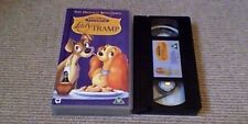 Lady And The Tramp WALT DISNEY CLASSIC UK PAL VHS VIDEO 1998 Remastered