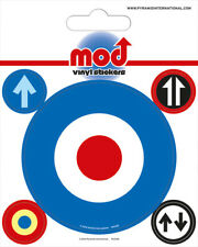 Glossy Vinyl Stickers Pack of 5 - Mod (Target), RAF Roundel, The Who, Vespa
