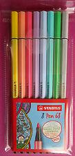 STABILO Pen 68 Pastell im 8er Kunststoffetui Neu Filzstift Fasermaler