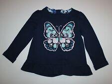 NUEVO Gymboree Mariposa Gema Brillo Top Con Sobrefalda Camiseta Talla 3 años