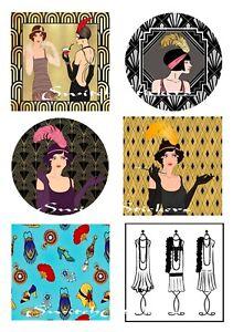 Art Deco Ladies Stickers (for Crafts)
