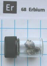 1 gram Erbium metal 99.9% in glass vial - Element 68 sample