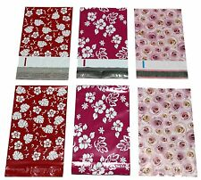 9 6x9'' Pink & Red Flower Designer Mailers Poly Shipping Envelopes (3pcs/color)
