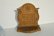 """FANTASTIC ANTIQUE HEAVY CAST IRON DOOR STOP/BOOKEND"""" BOOK THAT YOU MAY CARRY ..."""