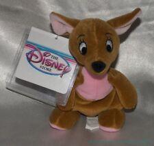 "New Rare DISNEY STORE 1990s Plush Beanie 8"" Pooh Friend KANGA Kangaroo Sewn Eyes"