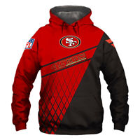 San Francisco 49ers Hoodie Hooded Pullover Sweatshirt S-5XL Football Team Fans