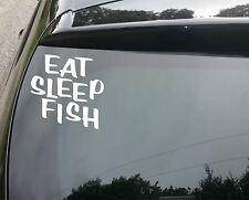 Comer dormir Peces Pesca Divertida car/window Jdm Vw Euro Vinilo calcomanía adhesivo
