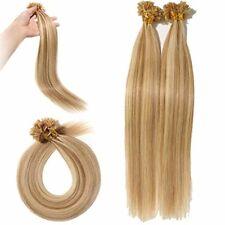 Rajout Extension Cheveux Naturel Keratine Pose a Chaud Vrai Cheveux Humain - 100