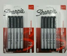 2 Packs Of Sharpie Permanent Ultra Fine Point Markers Black Pack Of 10 Markers