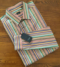 "PAUL SMITH LONDON SIGNATURE STRIPE SLIM FIT SHIRT 16.5"" COLLAR MADE IN ITALY"