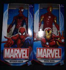 2 Hasbro Marvel Heros Iron Man & Spiderman Figures 6 Inch NEW childrens