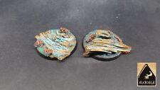 50mm RESIN BASES TIDE TIDAL SEABED 2 pcs AGE OF SIGMAR WARHAMMER 40K