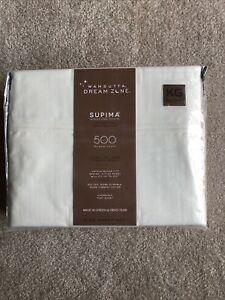 "WAMSUTTA Dream Zone 500 Supima Cotton Ivory Luxury 20"" Deep KING Sheet Set"