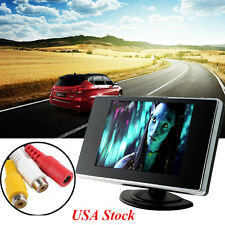 "USA Mini 3.5"" TFT LCD Color Screen Car Video Rearview Monitor Camera For Backup"