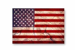 American Flag Printed on Brushed Aluminum
