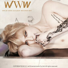 JYJ KIM JAE JOONG-[WWW:WHO,WHEN,WHY] 1st Album CD+Photo Book+Card K-POP Sealed