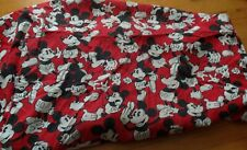 Vintage 90s Disney Classic Mickey Mouse Red Black Fitted Twin Sheet Bedding