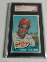 TONY TAYLOR - 1965 TOPPS - #296 - AUTOGRAPH - SGC SLABBED AUTHENTIC