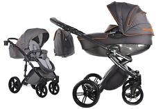 Knorr Baby  Alive Be Carbon 2in1 Kombi Kinderwagen Dunkelgrau Orange 3762-2