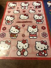 2003 TO 2007 VINTAGE SANRIO HELLO KITTY STICKERS NEW 5 SHEETS