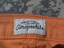 WOMEN'S AEROPOSTALE ASHLEY ULTRA SKINNY PEACH ORANGE CORAL FADED JEANS 5/6 NICE