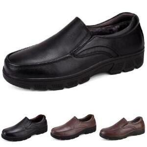 Mens Faux Leather Work Business Leisure Shoes Pumps Fur Inside Warm Walking 50 L