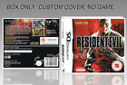 NINTENDO DS : RESIDENT EVIL DEADLY SILENCE. ENGLISH. COVER + BOX. (NO GAME).