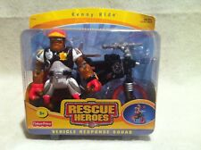 Rescue Heroes Vehicle Response Kenny Ride & Bike! Factory Sealed!