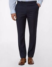 "MEN'S NEW M&S FORMAL SUIT TROUSERS W34"" - L31"" NAVY WOOL BLEND GENUINE"