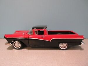 NWB 1:18 Scale Red and Black 1957 FORD RANCHERO Die-cast By Road Legends