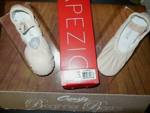 """CAPEZIO Lily #212C little GIRLS Sizes BPink Full Sole Ballet shoes """"NEW"""""""